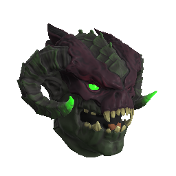 Green Infernal Demon Mask